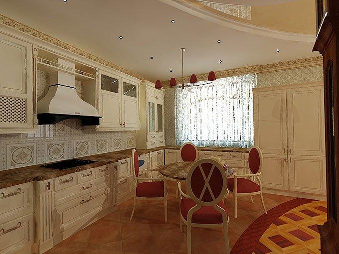 Дизайн кухни 25 кв м в частном доме