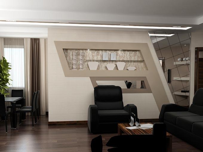 Декорирование гостинной комнаты
