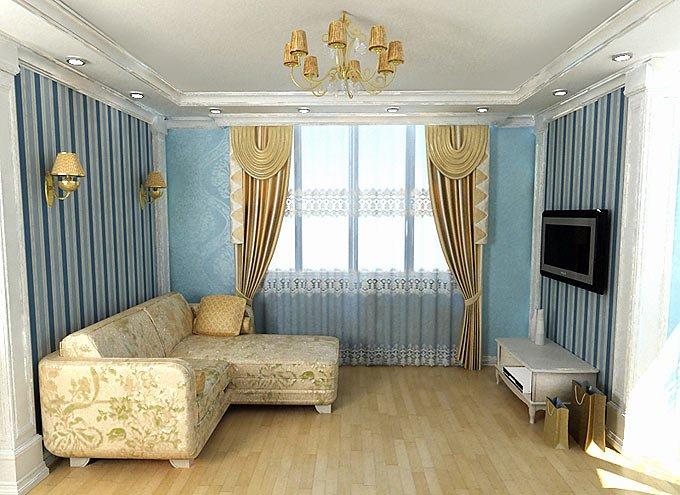 Проект дизайна Гостиной комнаты